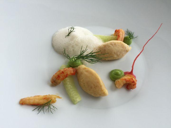 Crema di cetrioli  e granchio