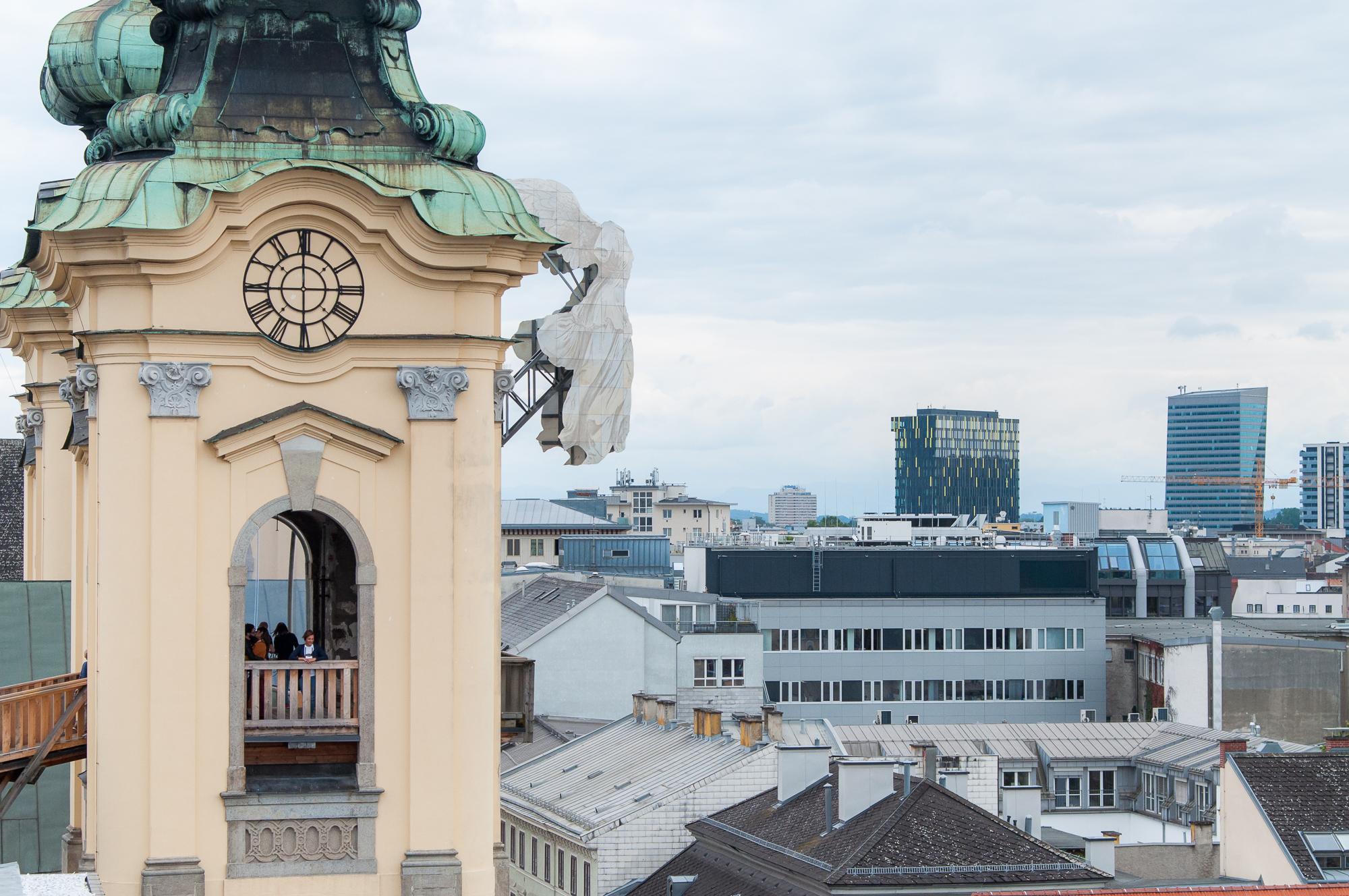 Linz: il Duomo, gli angeli di HÜhenrausch e la camera dell'eremita